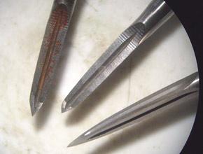 Виды режущей поверхности шабера