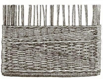 Рис. 3. Плетение рядами
