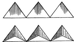 Рис. 3. Треугольники — основа классических композиций российских мастеров