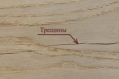 Пороки древесины. Трещины