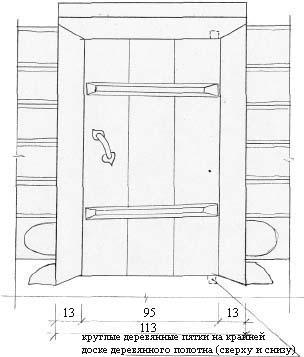 Дверь косящатая на пяте вид снаружи м